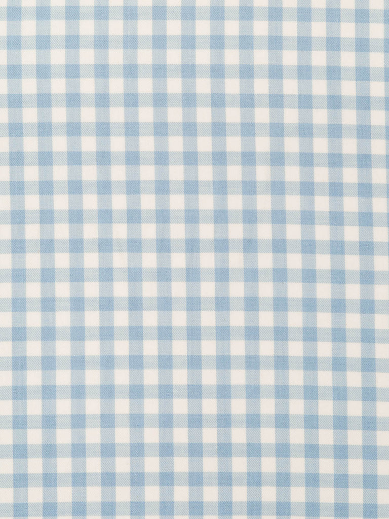 Baby Blue and Natural White Gingham Check