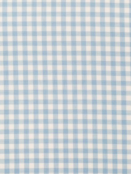 Baby Blue & Natural White Gingham Check