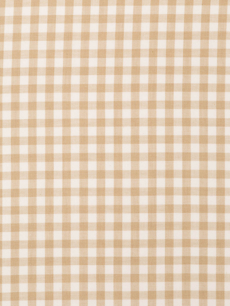 Medium Check Gingham Twill - Sand