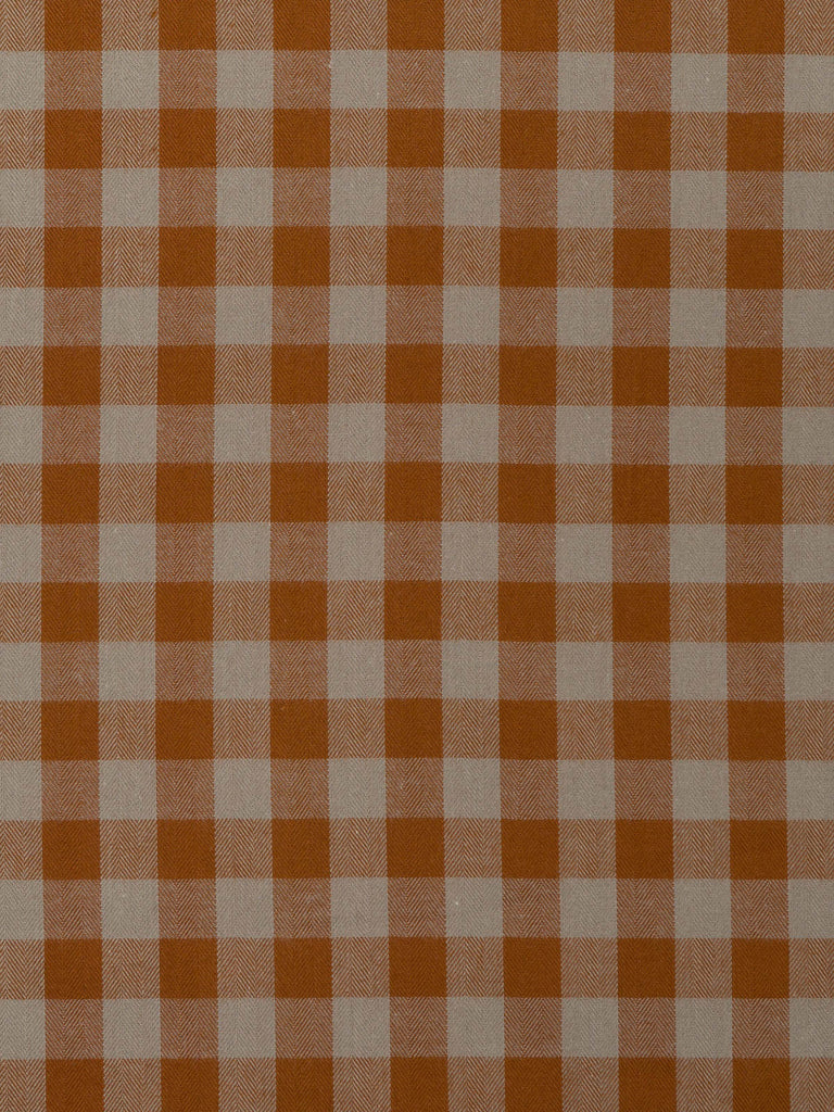 Light Taupe and Teak Gingham Check - Fabworks Online