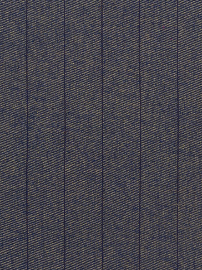 Faded Woad Broad Pinstripe
