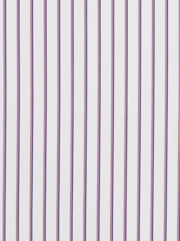 Silky Sateen Stripe - Lilac, Gold and Purple - Fabworks Online