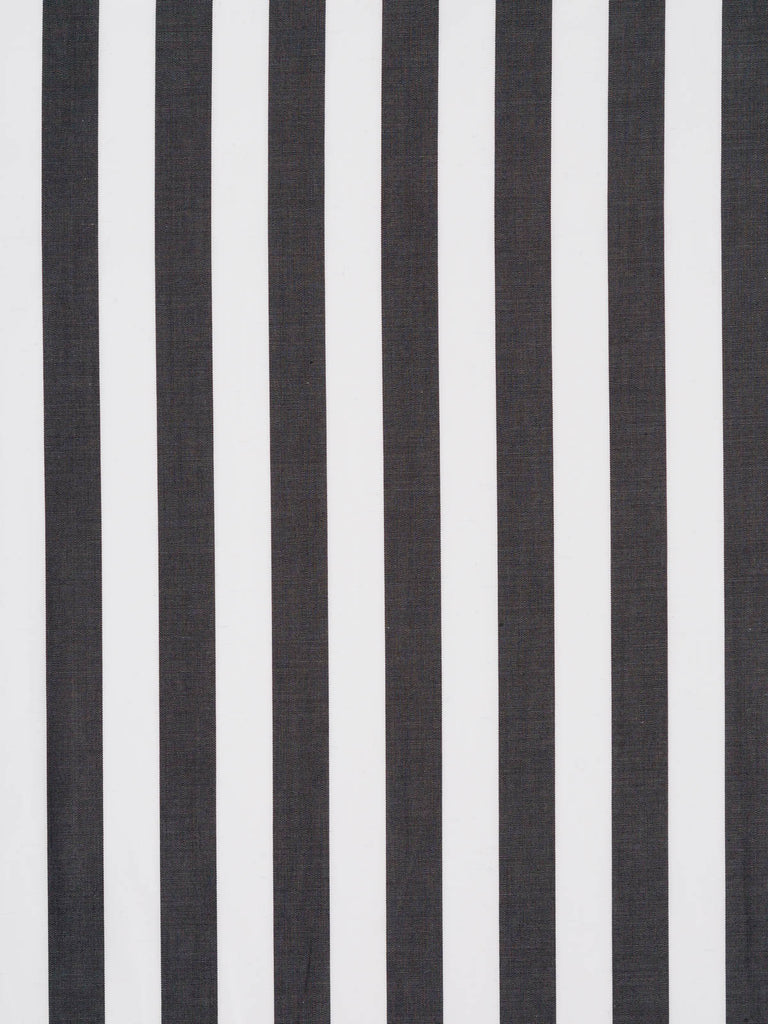 16mm Wide Stripe - Charcoal and White