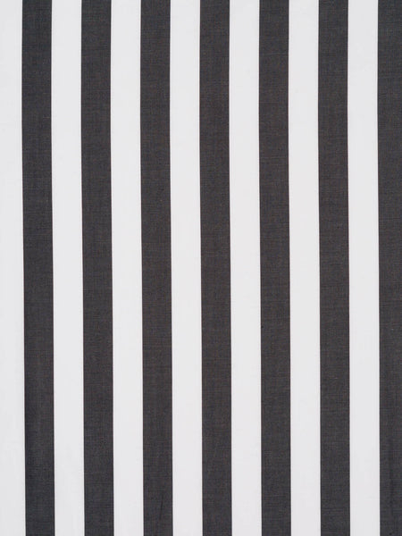 16mm Wide Stripe - Charcoal and White - Fabworks Online