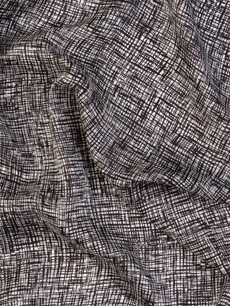 Cross Hatch Sketch - Viscose / Rayon - Fabworks Online