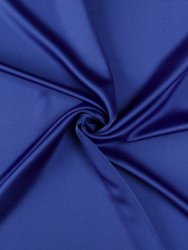 Scintillating Sapphire Satin Backed Crepe - Fabworks Online
