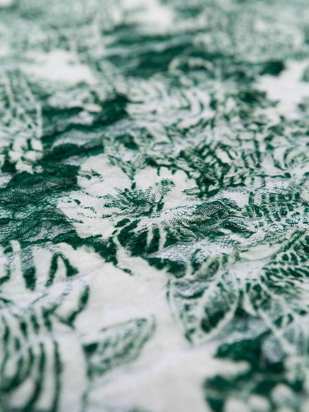 Greenery Tropical Ruffle Lace