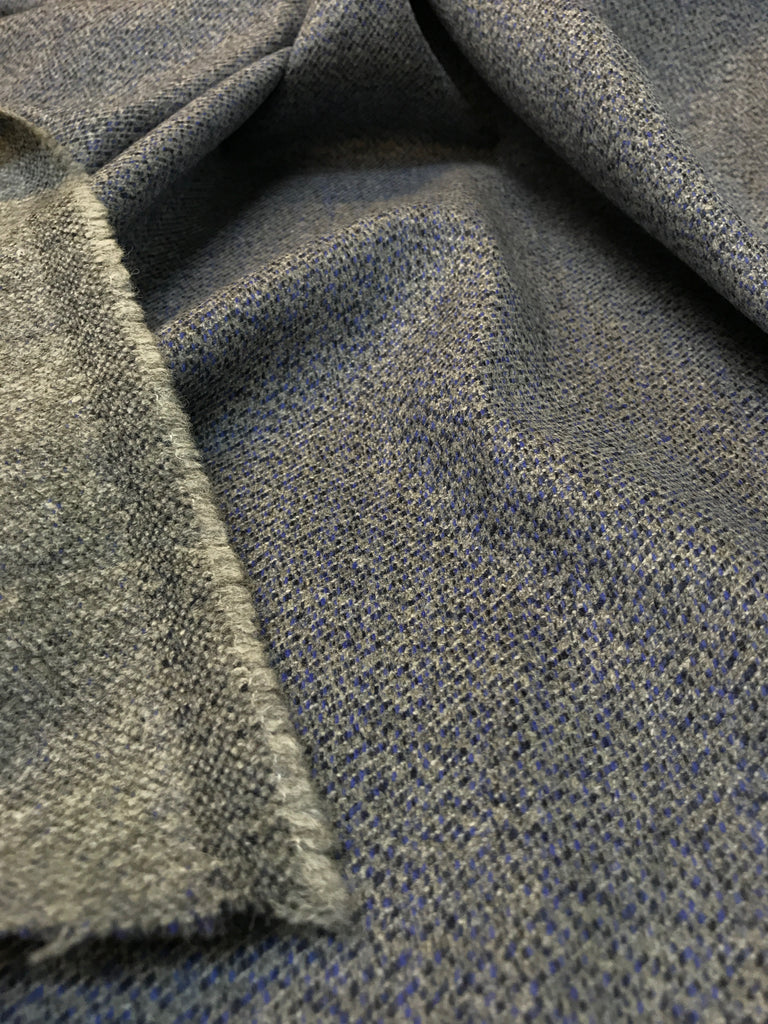 Marled Denim - Two Faced Speckled Wool Twill