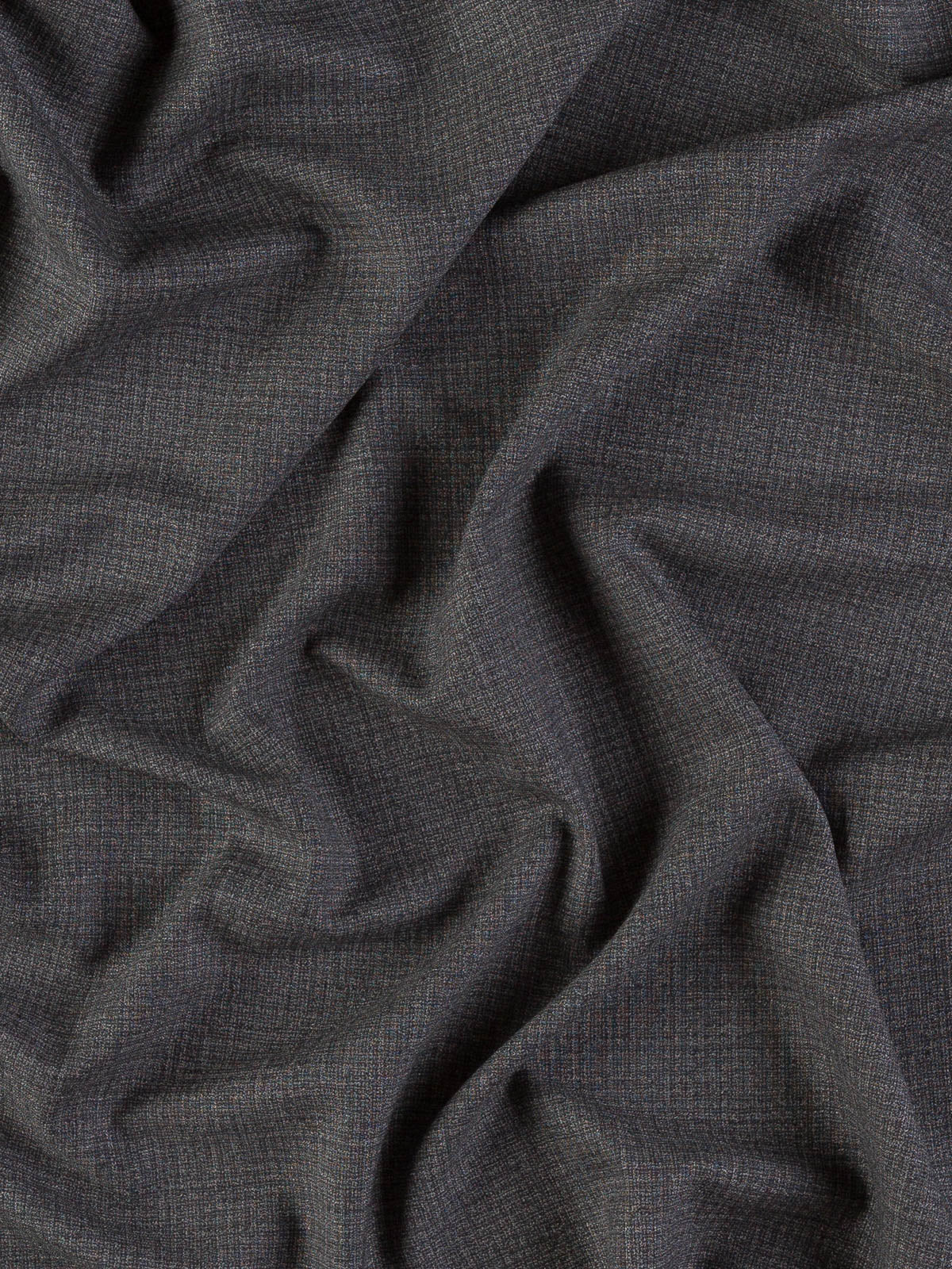1m BLACK RIB Cotton Rayon Blend Med-Weight Suiting Fabric