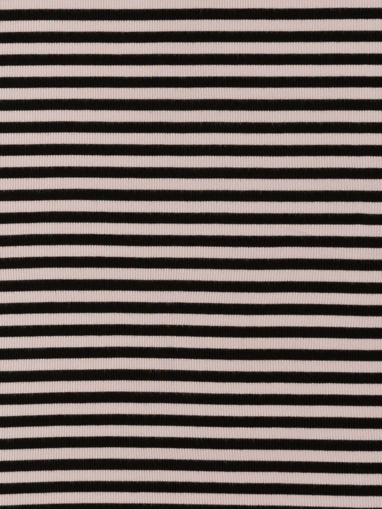 Marshmallow and Liquorice Rib Stripe - Fabworks Online