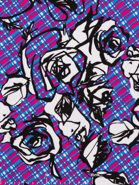 Graffiti Rose Plaid Fabworks Online