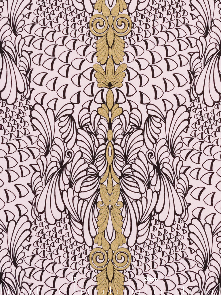 Colouring Book Rococo Swirls - Looped Back Cotton Sweatshirting - Fabworks Online