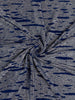 Silver & Sapphire Waves Silky Pre-Pleat - Fabworks Online