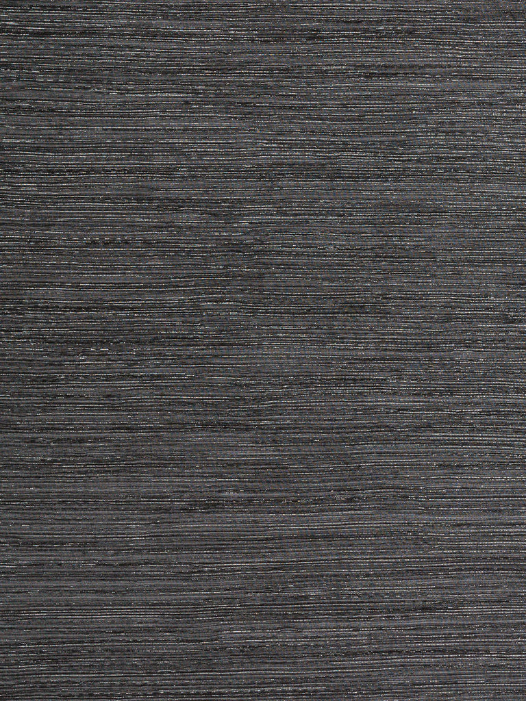 Black and Silver Shimmer Silky Pre-Pleat - Fabworks Online