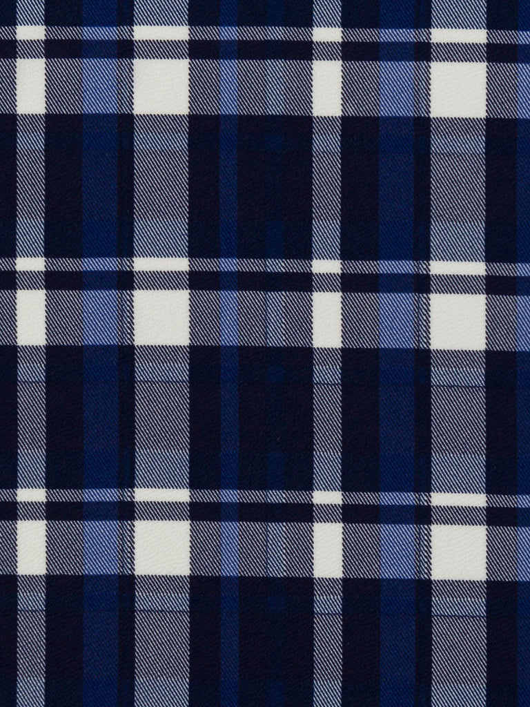 Blue Plaid Crepe