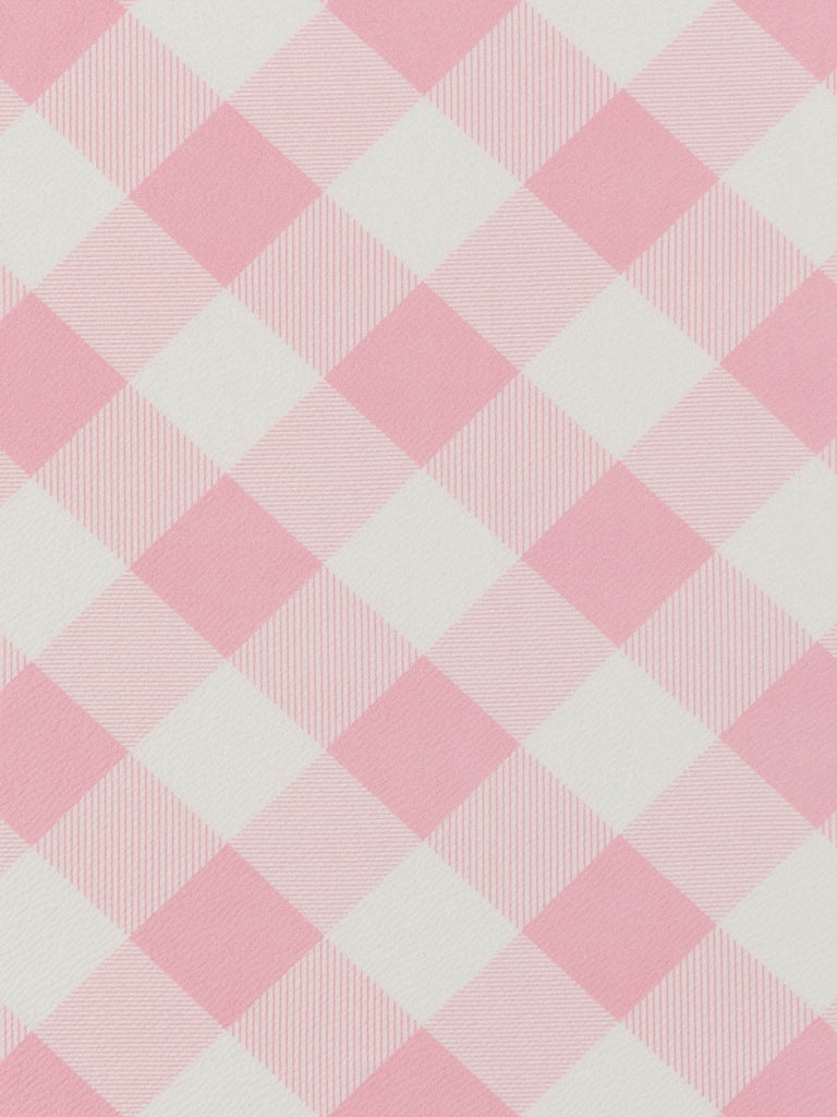 Large Bias Printed Gingham Check - Baby Pink - Fabworks Online