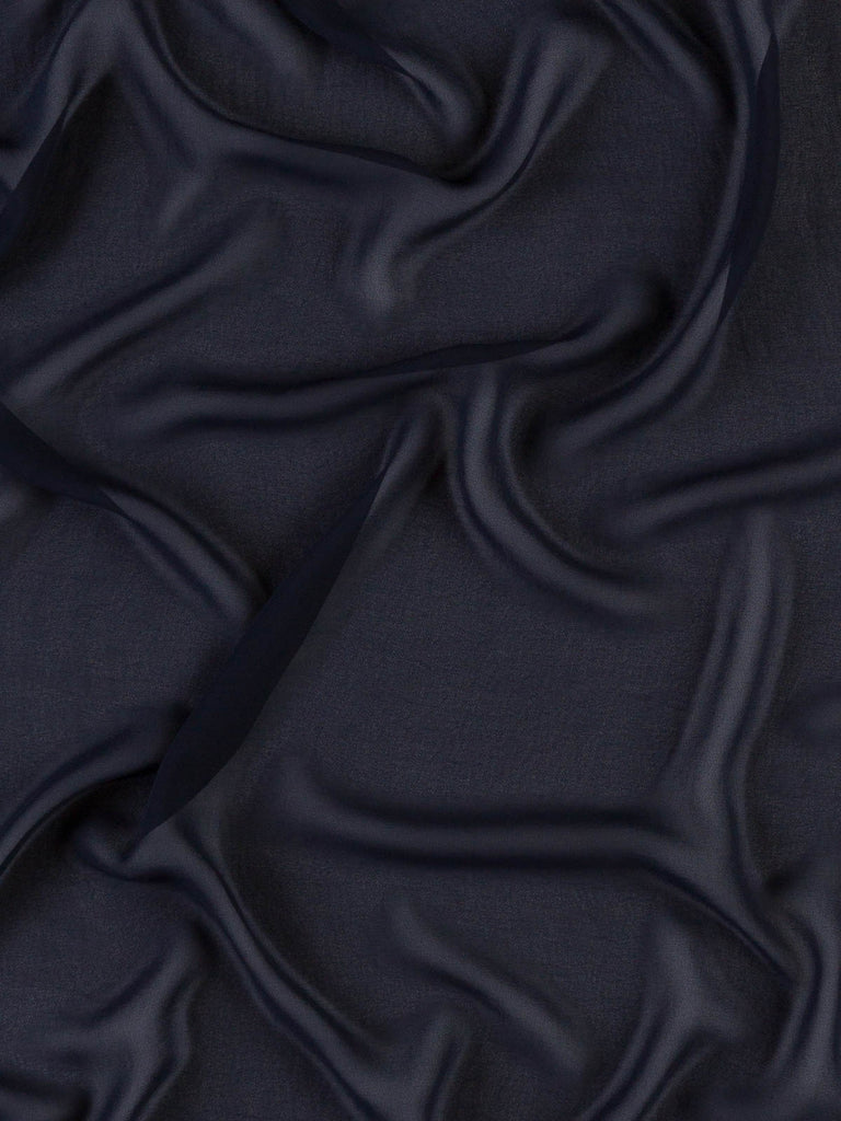 Classic Navy Poly - Crepe Georgette - Fabworks Online
