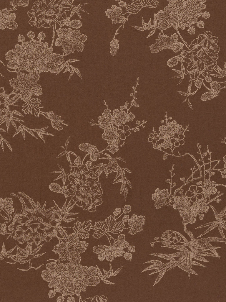 Chocolate Oriental Floral - Fabworks Online