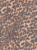 Mocha Coffee Leopard Georgette
