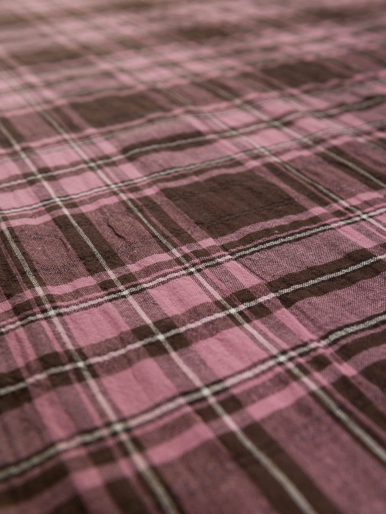 Chocolate Turkish Delight - Seersucker Plaid - Fabworks Online