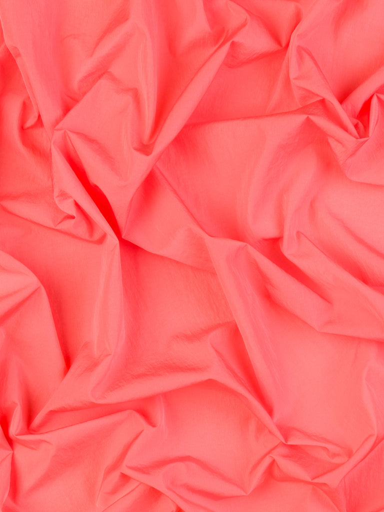 Pretty in Pink Coral - Crinkle Showerproof Nylon