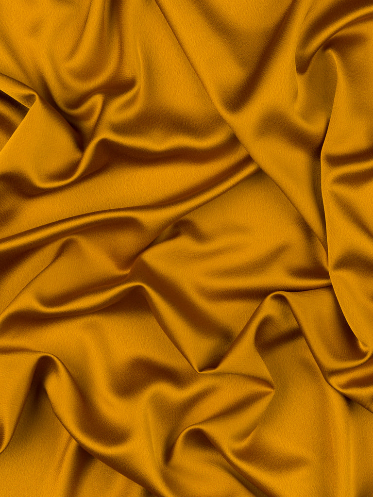 Molten Autumn Gold - Satin Backed Crepe