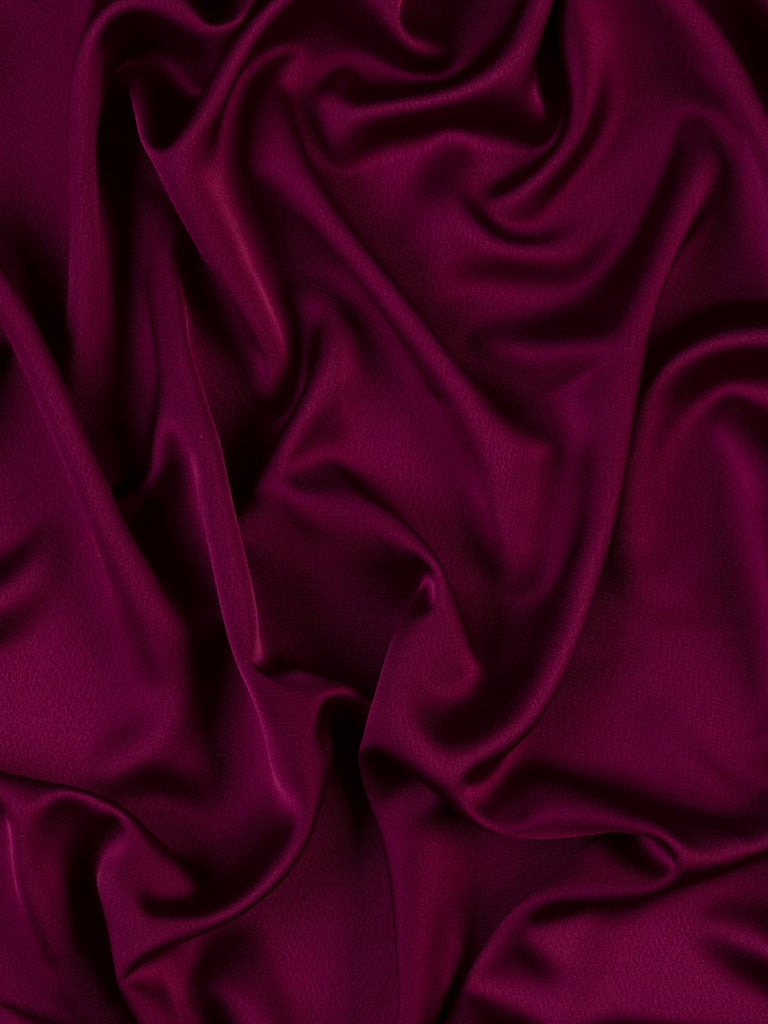 Black Cherry - Satin Backed Crepe
