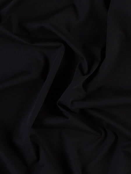 Parallel Lines - Stretch Black Twill - Fabworks Online
