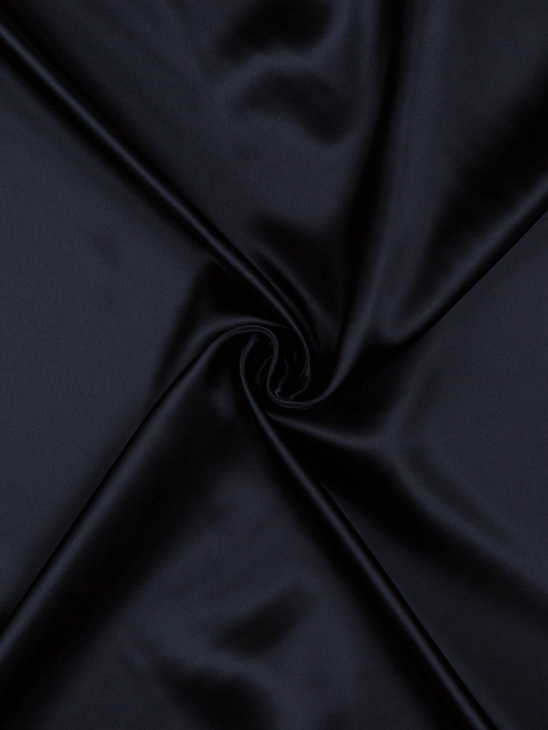 Fine Acetate Satin Twill - Blue Black