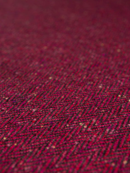 Raspberry Parfait - Donegal Tweed Herringbone