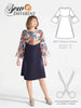 Bell Sleeve Dress Pattern - Sew Different