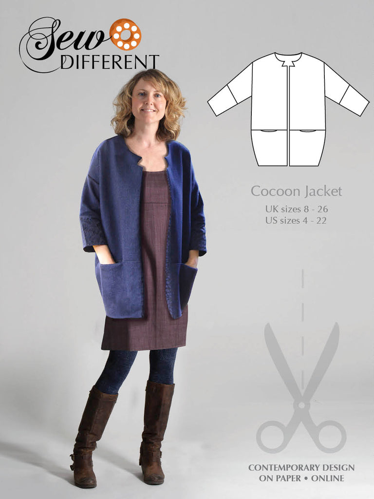 Cocoon Jacket Pattern - Sew Different