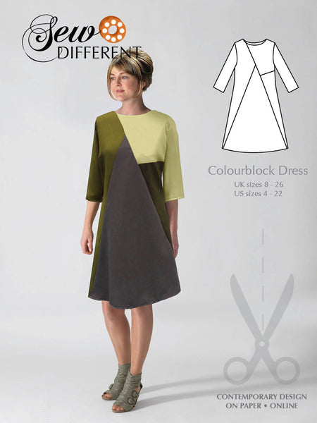 Colourblock Dress Pattern - Sew Different