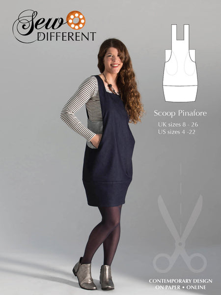Scoop Pinafore Pattern - Sew Different