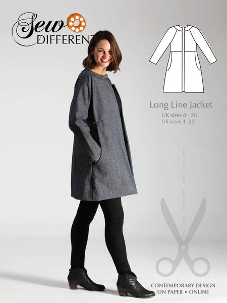 Long Line Jacket Pattern - Sew Different