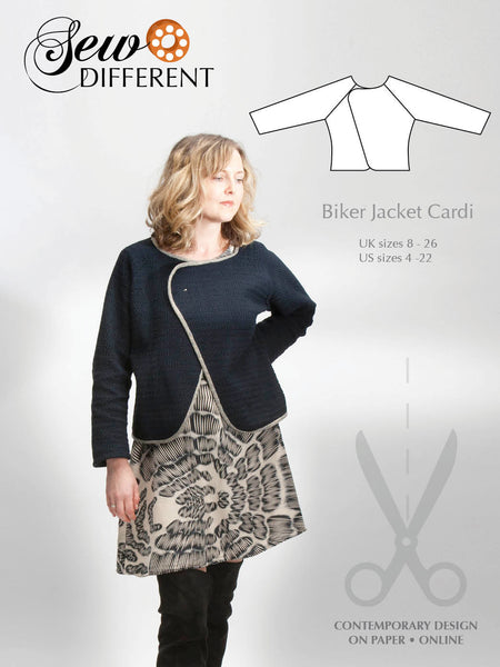 Biker Jacket Cardi Pattern - Sew Different