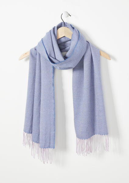 Soft Blue Lilac Twill - Lambswool Scarf