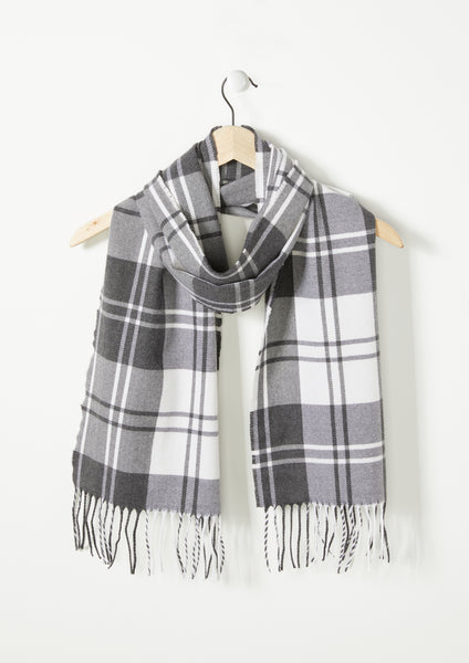Mono Check - Lambswool Scarf