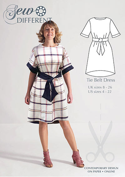 Tie Belt Dress Pattern - Sew Different