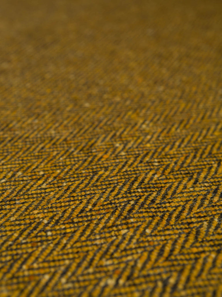 Mellow Autumn Sunshine - Donegal Tweed Herringbone - Fabworks Online