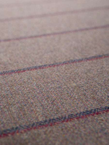 Yorkshire Mixtures Tweed Stripe - Dusty Heather - Fabworks Online