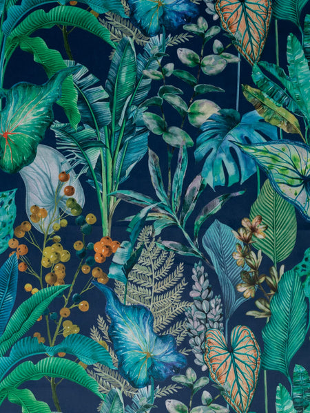 Botanical Bliss - Teal - Deluxe Printed Velvet (Upholstery Weight)
