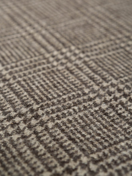 Grey Limestone Princely Check - Eco Wool