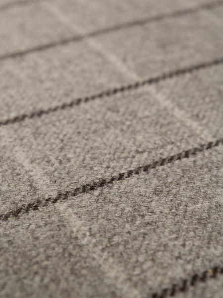 Pale Limestone & Peat Check Twill - Eco Wool
