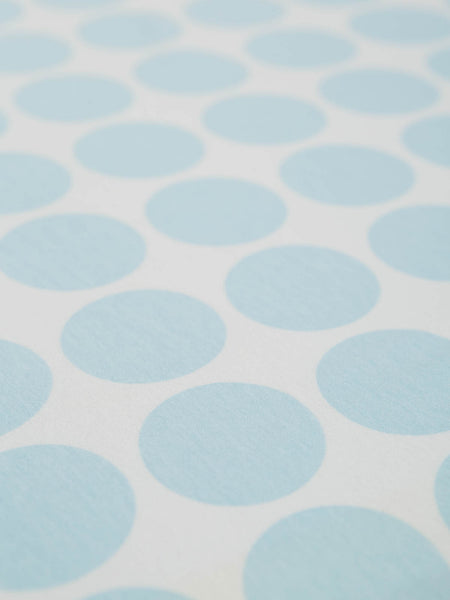 Aqua Blue Spot - Organic Cotton Single Jersey - Fabworks Online