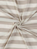 Wide Stripe - Washed Taupe and White - Organic Cotton Single Jersey