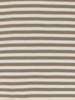 Softly Softly Narrow Stripe - Taupe - Organic Cotton Interlock