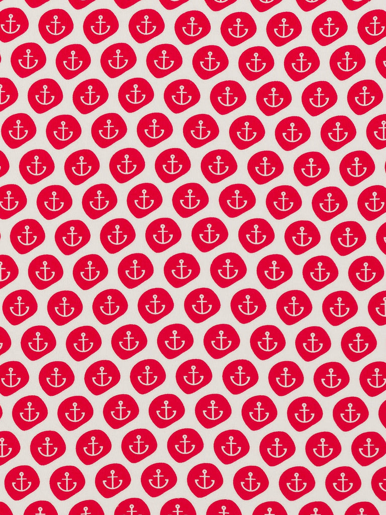 Red Anchors Aweigh! - Organic Cotton Interlock