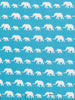 Elephants On Parade - Turquoise - Organic Cotton Interlock