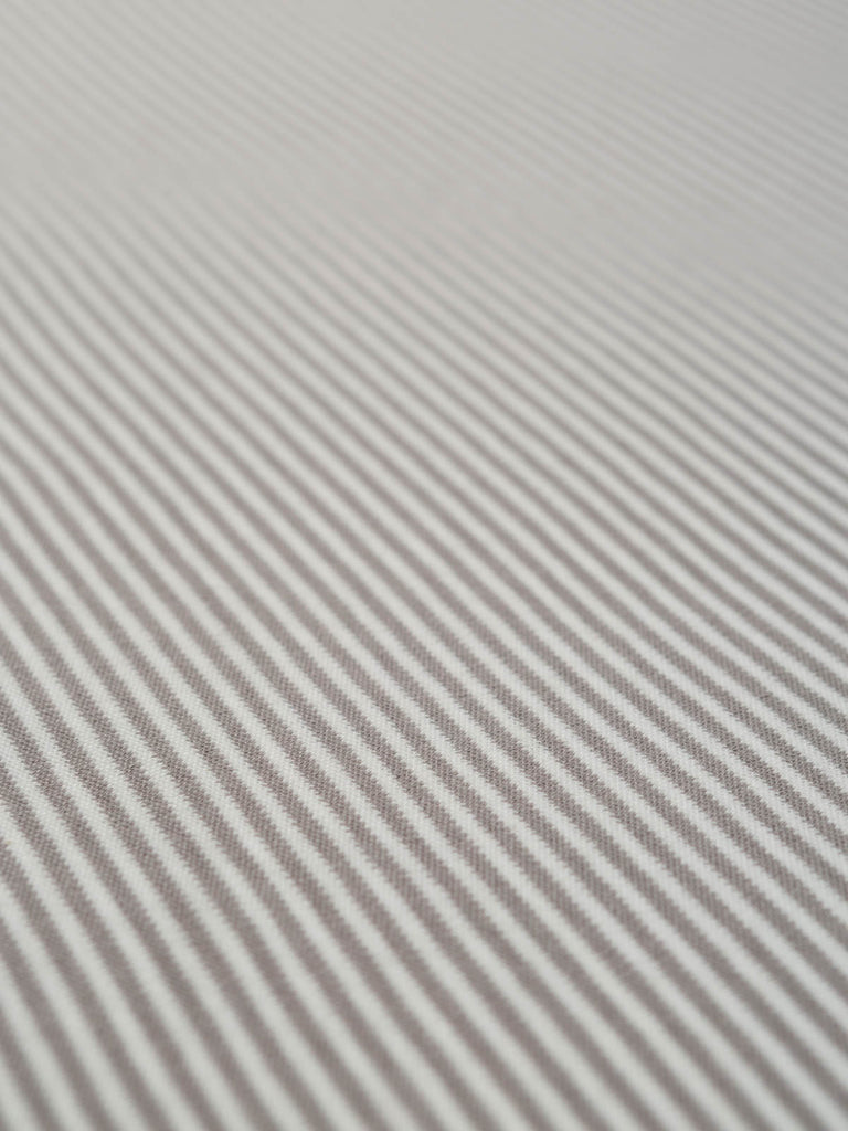 Mini Stripe - Smoke Grey - Organic Cotton Interlock